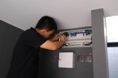 การตรวจสอบการติดตั้งตู้ตู้คอนซูมเมอร์ยูนิต-2
