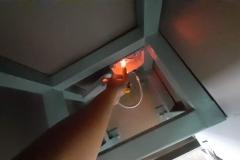 การตรวจสอบสายไฟเครื่องทำน้ำร้อน